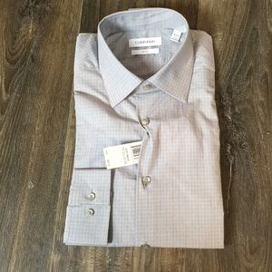 New Calvin Klein long sleeve dress shirt